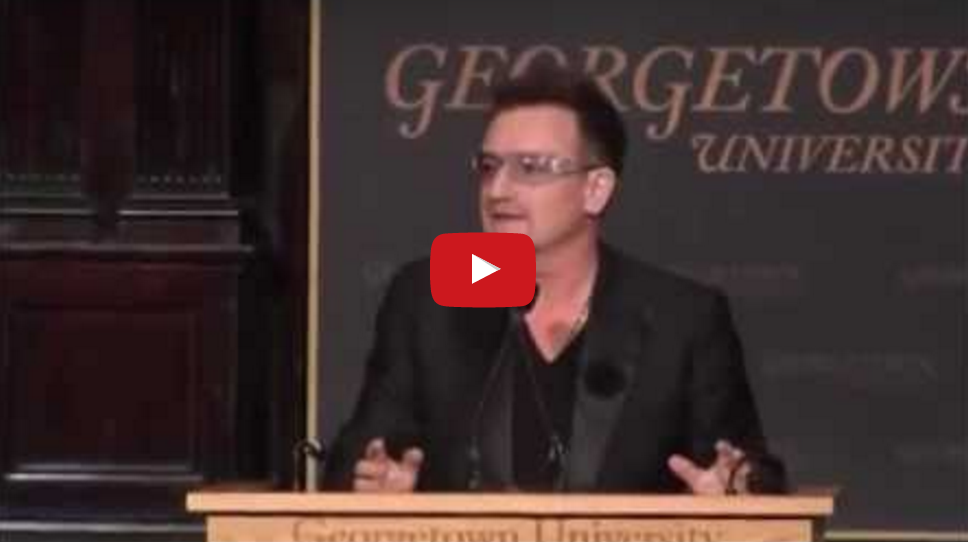 Bono's Speech at Georgetown